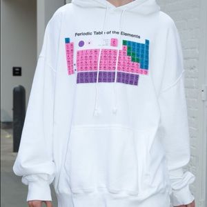 ISO brandy melville periodic table hoodie